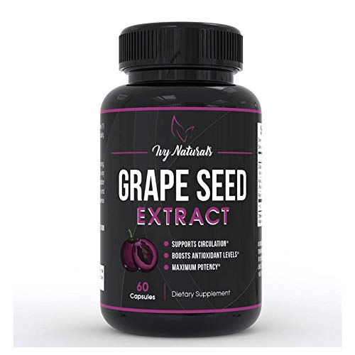Grape Seed Extract by Ivy Naturals || Promotes Cardiovascular Health || Anti-Inflammatory Effects || Supports Bone Growth And Development || SATISFACTION GUARANTEED For Sale