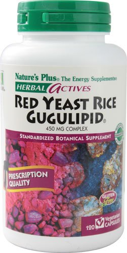 Nature's Plus Herbal Actives Red Yeast Rice Gugulipid® -- 450 mg - 120 Vegetarian Capsules - 2pc by Nature's Plus