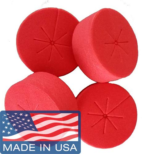 Cloning Collars Inserts Premium Grade Foam Better Than Neoprene for Hydroponics Plant Germination in DIY Cloner & Clone Machines (fits 2 inch net pots/Cups, RED - 50 Pack)