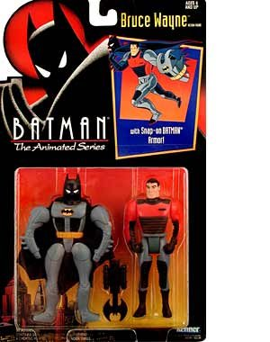 The Animated Series Bruce Wayne Action Figure 4.75 Inches Kenner Batman