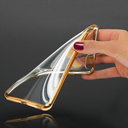 Mobilefox farbiger Rand Schutzhülle TPU Case iPhone 6/S gold