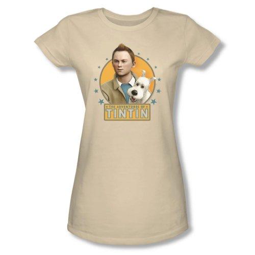 Tintin - Womens Buddies T-Shirt In Cream, Small, Cream