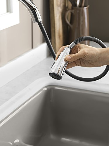 KOHLER K-596-BL Simplice Single-Hole Pull-Down Kitchen Faucet