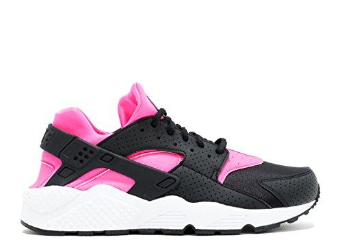 Nike Ws Luft Huarache Run - 634835-604 Svart, Rosa Blast-hvitt