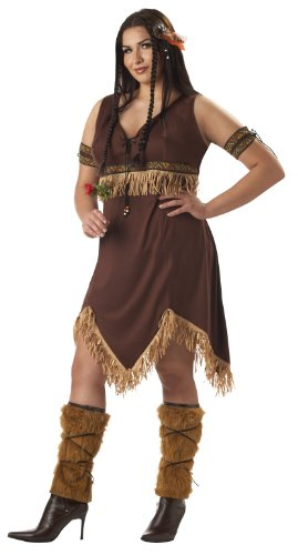[California Costumes Women's Plus-Size Sexy Indian Princess Plus, Brown, 3X] (Plus Size Adult Halloween Costumes Ideas)