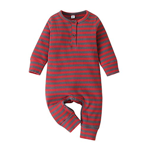 JBP Baby Girls Boys Knitted Jumpsuit Button Solid