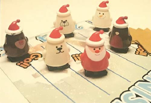 Cat F1 Festive Snowman Design in Silver Crackers Ltd Set of 6 Clockwork Racers Christmas Crackers