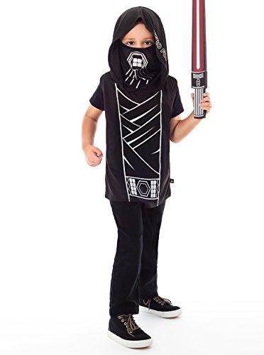 Obi Wan Kenobi Revenge Of The Sith Costume (Little Adventures Galactic Star Villian Hooded Vest Costume & Accessory Sets for Boys - S/M (3-5 Yrs))