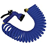 Best Coiled Garden Hoses - Whitecap 15' Blue Coiled Hose w/Adjustable Nozzle Review