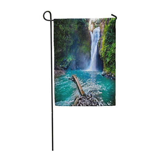 Semtomn Garden Flag 12x18 Inches Print On Two Side Polyester Tegenungan Waterfall It is One of Places Interest Bali Secret Jungle Indonesia Home Yard Farm Fade Resistant Outdoor House Decor -