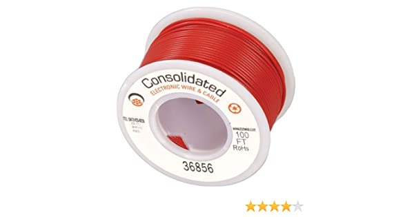 Amazon.com: Wire Hook-up Solid 22 AWG Red 100 Feet: Computers ...