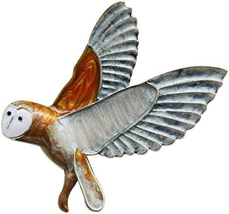 ブローチピン ブローチ フクロウのブローチ 鳥のブローチ チャームジュエリー