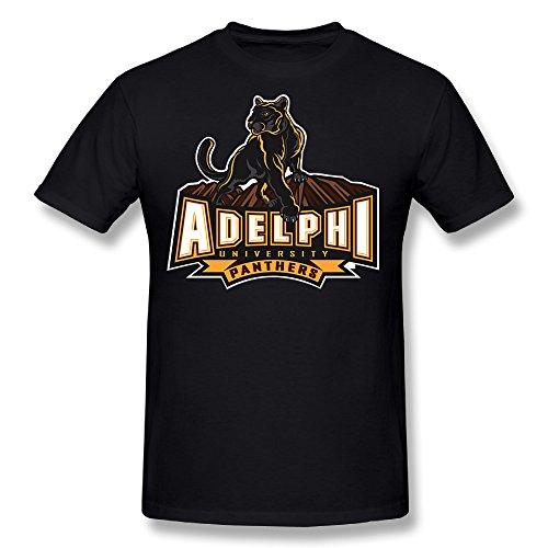 SKOMC Mens Summer Street Printed Adelphi University O Neck T Shirts/Short Sleeve/Tees