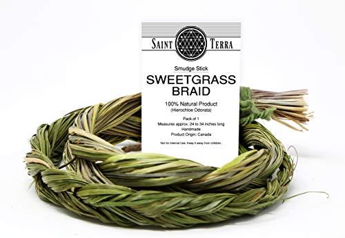 (Saint Terra - Sweetgrass Braid Smudge Bundle 24