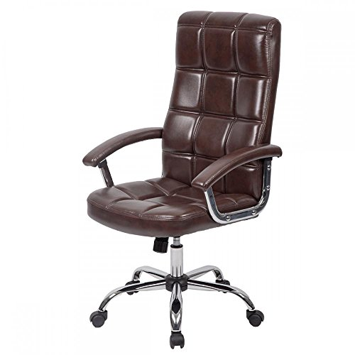 High Back Executive Office Chair PU Leather Ergonomic Chair Computer Desk by BestOffice