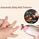 CALISTOUK Baby Automatic Nail Trimmer Safe Baby Nail Clippers Baby Nail Set Painless Kit Tool Light Pink