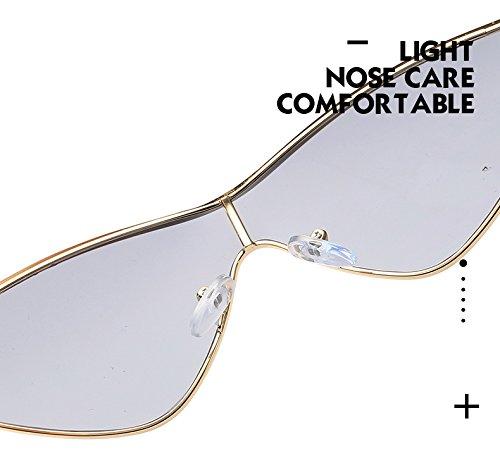 Protección Conducción De Sol Señoras Gafas Gafas De Portátiles Hombres Playa Polarizadas UV400 Goldframefullgray Manera Goldframebluepiece De KKCF De Los Gafas La Sol Gafas De De TYR7xdx