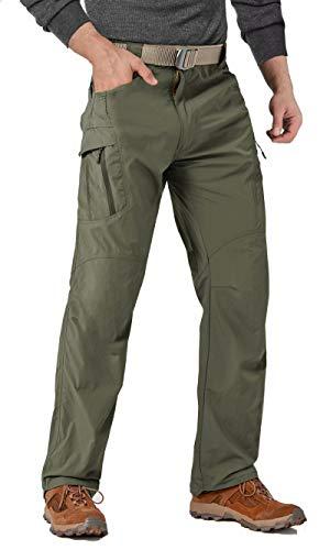 MAGCOMSEN Cargo Pants Men Relaxed Fit Hiking Pants Mens Work Pants for Men Tactical Pants Men Military Pants High Waisted Pants Hiking Pants Golf Pants for Men Green