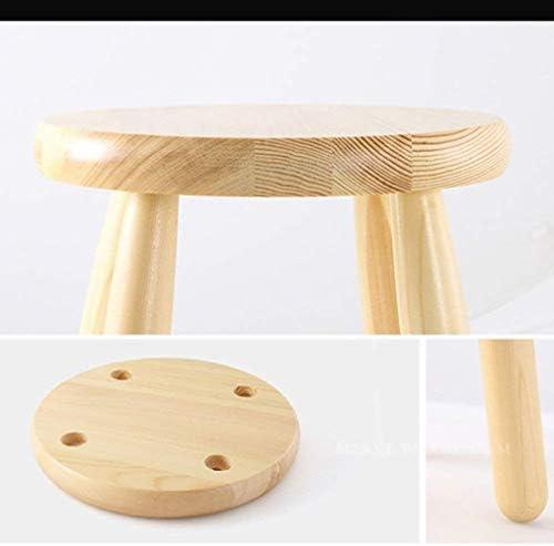 Chaise Petit Tabouret en bois massif nordique style Tabouret Tabouret Ménage Loisirs Mode Repose-pieds