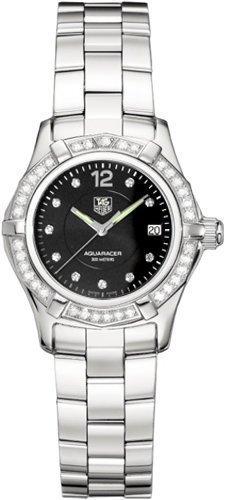 Tag Heuer Aquaracer Diamond Ladies Black Dial Swiss Quartz Watch WAF141D.BA0813