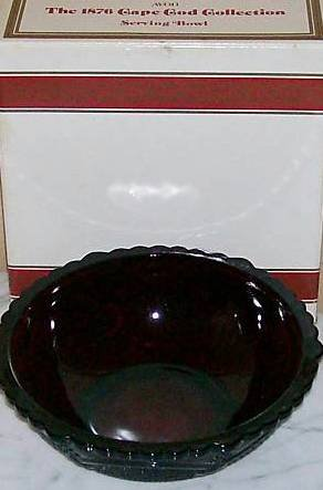 Avon Cape Cod Vegetable Serving Bowl Ruby Red