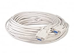 Your Cable Store 100 Foot DB9 9 Pin Serial Port Cable Female / Female RS232