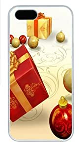 Christmas Gifts And Bulbs Polycarbonate Hard Case Cover for iPhone 5/5S White Thanksgiving Day gift