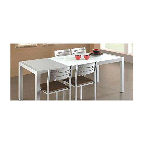 Amuebla 646. Mesa DE Cocina DE 132 X 80 CM. Extensible DE Carro ...