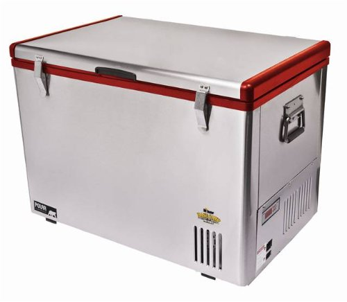 Cubic Foot Capacity Freezer - Basecamp by Mr. Heater AC/DC Fridge/Freezer (Silver/Red, 63-Quintal)