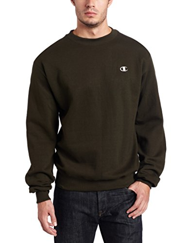 (Champion Men's Pullover Eco Fleece Sweatshirt, Military Green, X-Large)