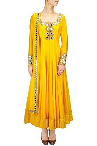 Haldi-Function-Anarkali-Suit-Embroidered-Mirror-work-Dress-Indian-Designer-Salwar-Suit-Available-in-Plus-size