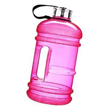 Ulable - Botella Deportiva de plástico DE 2,2 l, Gran Capacidad, Resistente a Las Fugas, con Bolsa de Transporte, Color Rosa: Amazon.es: Deportes y aire ...