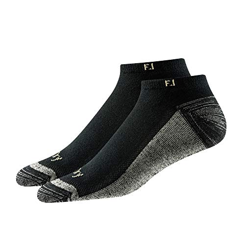 FootJoy Men's ProDry Low Cut Socks 2-Pack Socks Black Size 7-12