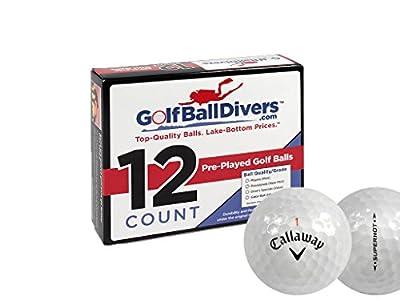 Callaway 72 Superhot - Near Mint (AAAA) Grade - Recycled (Used) Golf Balls