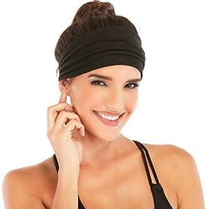 Heathyoga Non-Slip Headbands for Women-Silicone Grippy Headbands & Sweat Bands Headbands for Workout, Running, Gym, Yoga…