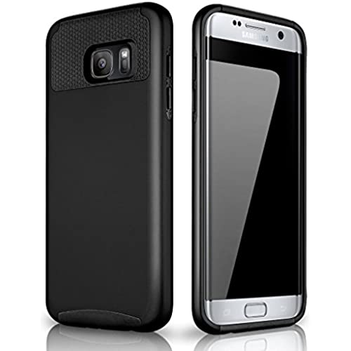 Galaxy S7 Edge Case, Samcore lightweight Shockproof TPU + PC 2 in 1 Style case for Samsung Galaxy S7 Edge [Black Sales