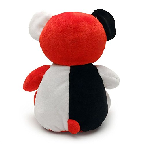 White and Red Teddy Plush Babys 1st Black Smarty Bear