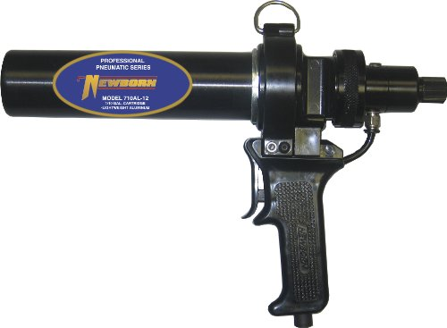 Newborn 710AL-12 Air Driven Pneumatic Applicator with Lightweight Aluminum Barrel, for 1/10 Gallon Cartridges, 100 psi