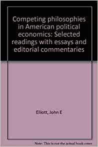 selected essays on political economy The political economy of hunger selected essays edited by jean drèze, amartya sen, and athar hussain a clarendon press publication wider studies in development.