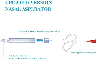 Premium Baby Nasal Aspirator Infant Booger Sucker Removable and Replaceable Head