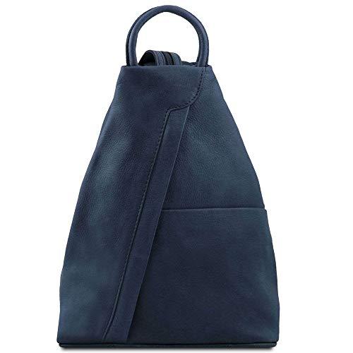 Cuero Azul Leather hombro TL140963 para Bolso azul mujer compact de al Tuscany YazqAzd