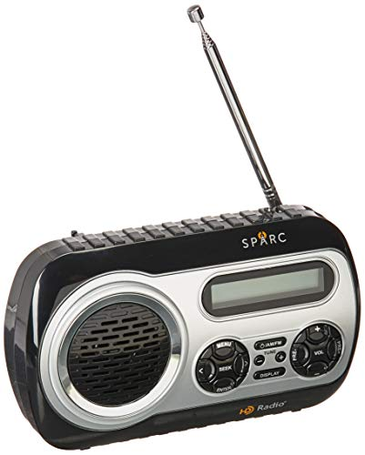 SPARC HD Radio SHD-TX2 Portable Radio with AM/FM & HD Radio Tuners, Built-in Speaker and Emergency Alerts
