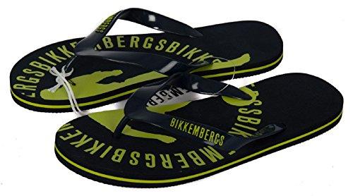 BIKKEMBERGS para B6A8014 hombres trajes Chanclas de para 0023 o baño Blue hombres qw006Ht