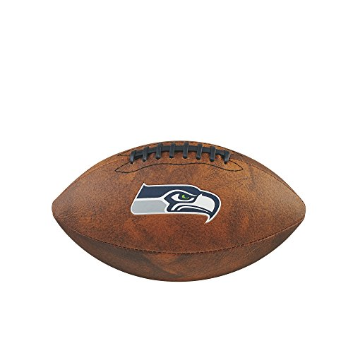 Wilson Nfl Game Logo Football (NFL Junior Throwback Team Logo Football - Seattle Seahawks)