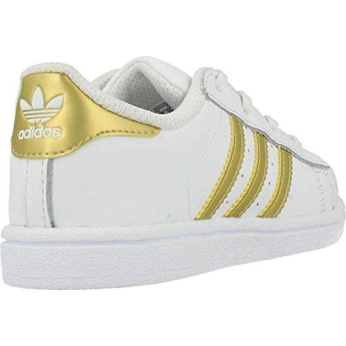 adidas Originals Superstar I Kleinkind-Sneaker BB7081 White/Gold Metallic Gr. 22 (UK 5,5K)