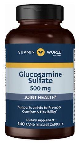 Vitamin World Glucosamine Sulfate 500mg 240 rapid release (Glucosamine Sulfate 240 Capsules)