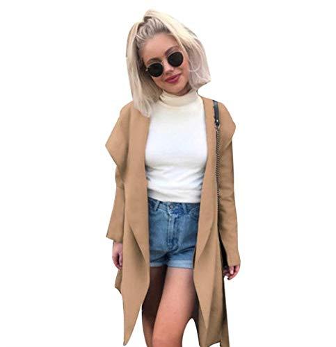 BoBoLily Femme Trench lgant Automne Hiver Chaud Longues Spcial Style Coupe Vent Jacket Loisir Parka Manteau Mince Coat Kaki