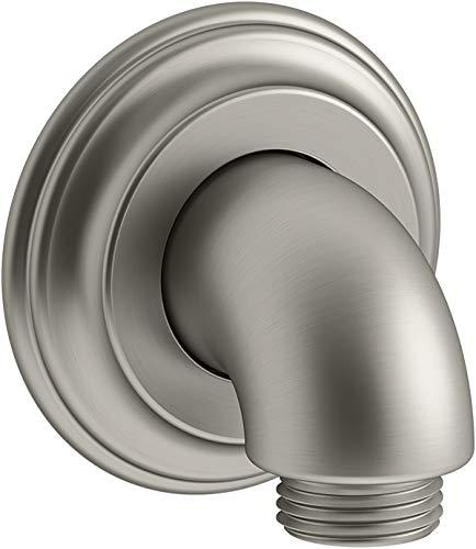 Kohler K-22173-BN Bancroft Wall-mount supply elbow, Vibrant Brushed Nickel