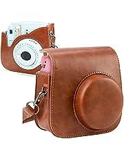 Mini Camera Tas, PTNeu Mini 8 Mini 8+ Mini 9 voor Fujifilm Instax, Instant Camera Case Tas, Beschermhoes, Dedicated Retro Camera Tas, Lederen Case met Afneembare Riem