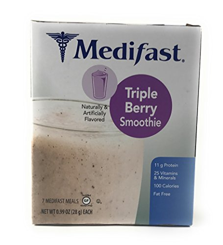 Medifast Triple Berry Smoothie  1 Box 7 Servings
